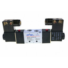 Airtac Solenoid Valve 4V220-08, 1/4 NPT, Double Solenoid, specify voltage