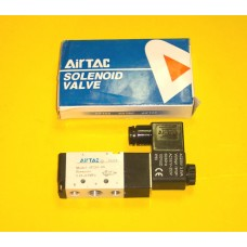 Airtac Solenoid Valve 4V210-08, 1/4 BSP, Single Solenoid, specify voltage (Fastek USA N4V-210-08 is the equivalent with NPT Threads)