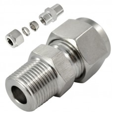 Fastek USA Male Connector, Stainless, Part Number SSPC10-1/2 NPT. 10mm tube to 1/2 NPT