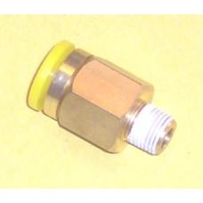 Fastek USA Male Connector, JPC3/8-N01, 1/8 NPT Thread to 3/8 tube