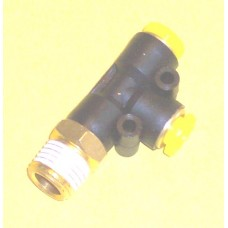 Fastek USA Male Run Tee, JPD1/4-N02, 1/4 NPT Thread to 1/4 tube