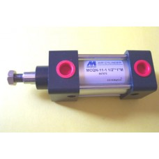 "Mindman Cylinder MCQN-11-1.1/2-1M, NFPA Interchangeable 1 1/2 bore X 1"" stroke"