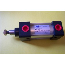 "Mindman Cylinder MCQN-11-1.1/2-1 1/2M, NFPA Interchangeable 1 1/2 bore X 1 1/2"" stroke"