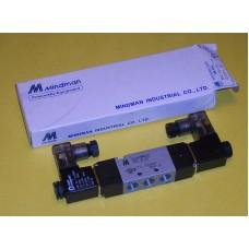 Mindman Solenoid Valve MVSC-180-4E2-AC220V, 1/8 NPT, Double Solenoid, 220VAC