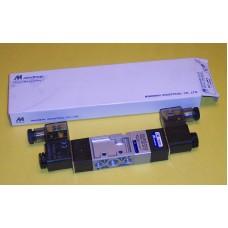 Mindman Solenoid Valve MVSC-220-4E2C, 1/4 NPT, Double Solenoid, 3 Pos, Blocked,  specify voltage
