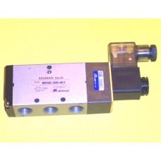 Mindman Solenoid Valve MVSE-300-4E1, 4-way, Single Solenoid, 3/8 NPT, specify voltage